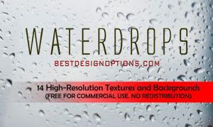 FREEBIES: 14 Hi-Res Water Drops Textures by fiftyfivepixels