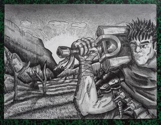 Guts from BERSERK by tomcollemare