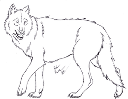 Wolf Lineart - FREE by The-Bone-Snatcher