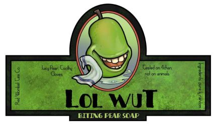Biting Pear Soap by ursulav