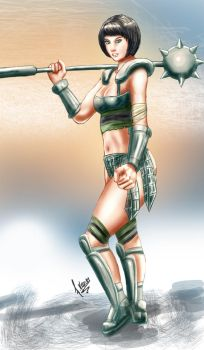 Buttercup Gladiator ver by Kazuo-O85