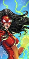 Spider Woman Panel Art by RichBernatovech