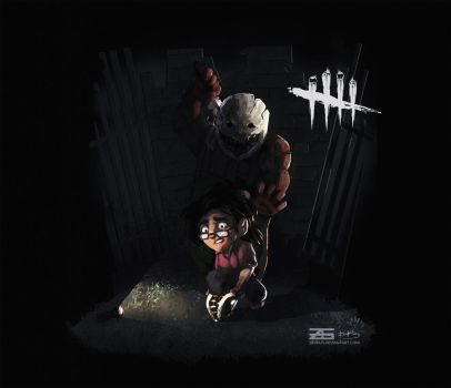Dead by Daylight - Smol Trapper and Claudette by Zinrius