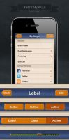 User Interface for iOS. Fabric Style GUI by ifeell