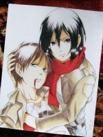 Eren and Mikasa by jhudegarcia