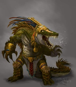 Mayan: Gator Warrior by GraphicGeek