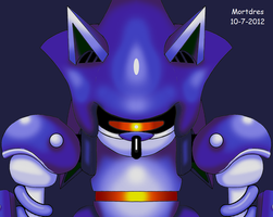 Mecha Sonic Face by Mortdres