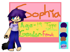 Sophia's new reff .: Main oc :. by SophiaArts1233