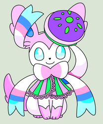 Eerie Delights Sylveon Base by ZwolfieLeaf