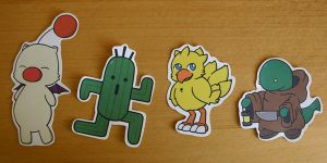 Final Fantasy Mascots Sticker Set by ThePockyGirl