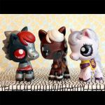 Zelda OOT inspired LPS horse customs by pia-chu