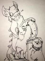 Inktide day 14: clock by spottedshine