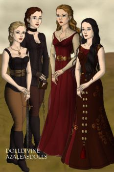 Isolde, Me Morgause and Morgana by ticktock12