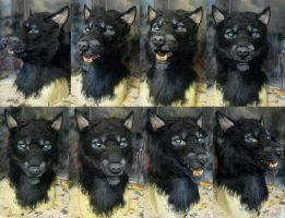 Black werewolf mask by Crystumes