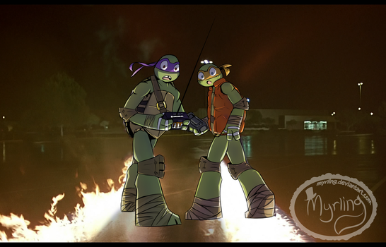 TMNT - Back to the future by Myrling