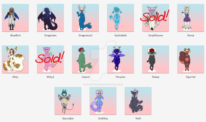 Adoptables for sale. by AddictedtoRain