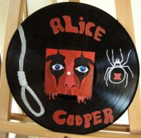 Alice Cooper vinyl record by modastrid