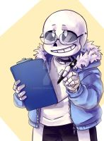 Sans wants to ask for something by paurachan