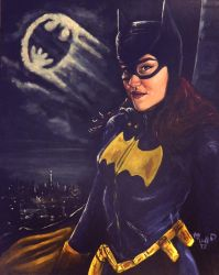 Batgirl my painting by cliford417