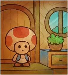 Paper Mario 64: First Toad House by Louivi