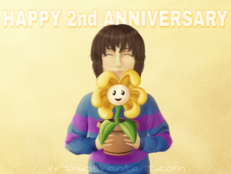 Happy Undertale Anniversary! by VirShi