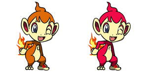 Pokemon #390 - Chimchar by Fyreglyphs