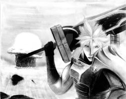 cloud strife in fallout 3 by NobodysXaos