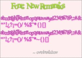 Font New Romantics by overtheraimbow