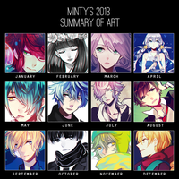 2013 Art Summary by mintymo