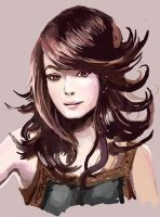 Layered Hair Color Study by WindHydra