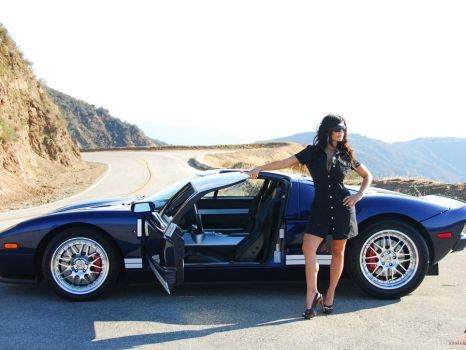 Denise sexy girl with ford GT by delysidlsd