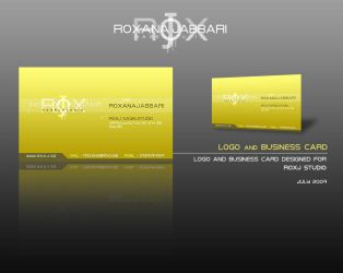 ROXJ LOGO AND BUSINESS CARD by TonioSite