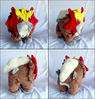 Blocky Entei Plush