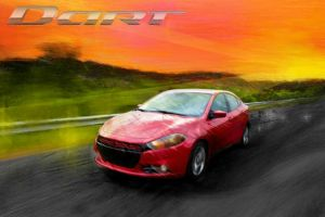 Dodge Dart Art Painting by MightyMagic