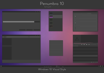 Penumbra 10 - Windows 10 visual style by Scope10