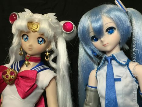 Sailor Moon and Snow Miku July 25, 2016 30 by djvanisher