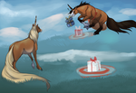 Quirlicorns - December Joust  - Target Practice by Keartricity