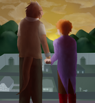 Frava Sunset Scene by CrafterQueen