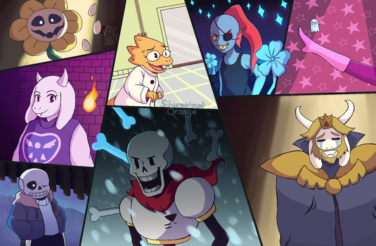 Undertale 2nd Anniversary by Stereotyped-Orange