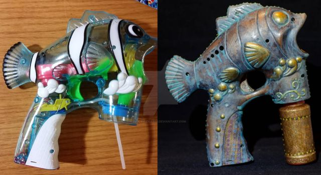 Before After - Fish Gun by Caitiekabob