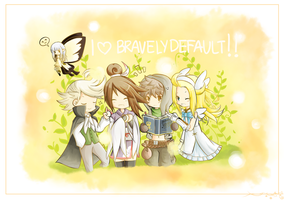 Bravely Default!!! by sakuratorte