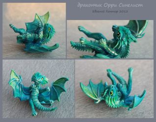 Dragon baby Orry Blue Leaf - for sale by hontor