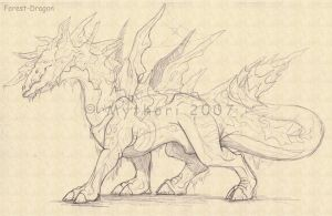 Forest Dragon WIP by mythori