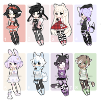 +Kemonomimi adopt mix [CLOSED] (0/8)+ by Hunibi