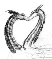 Dragons in Love by Musicaltiger