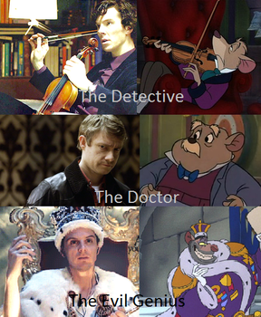 BBC Sherlock VS The Great Mouse Detective by BlazeandIcy