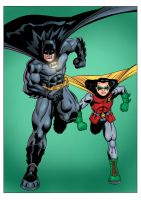 Batman and Robin by mike-mcgee
