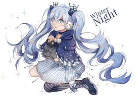 Winter Night Miku by retrozero