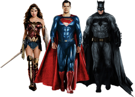 The Trinity Justice League PNG by gasa979