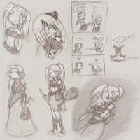 Sadirra Game Sketches 3 by eikiji